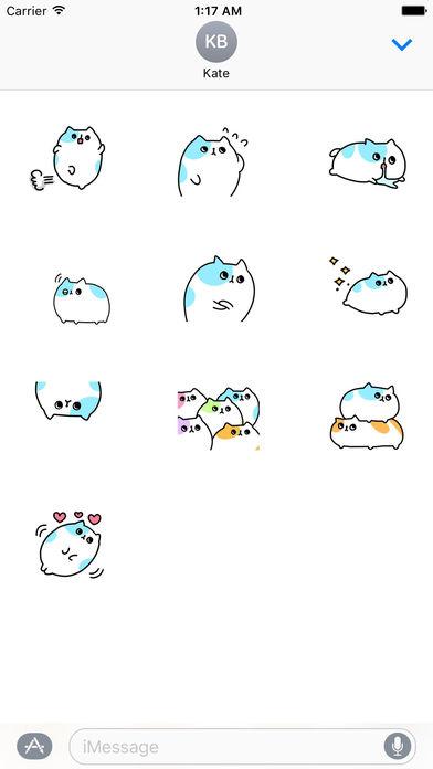 An Obese Cat Stickers screenshot 3