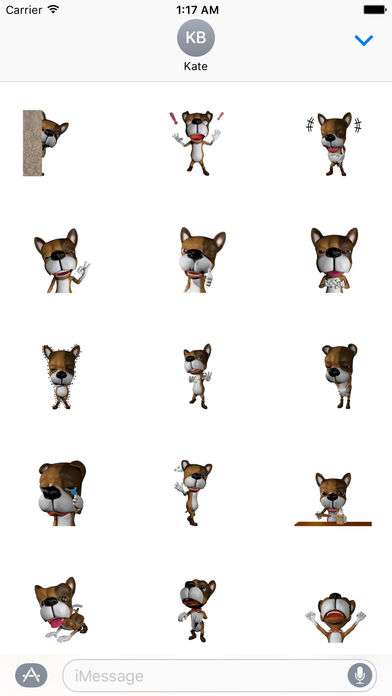 3D Lovely Dog - New Style Stickers Pack screenshot 2