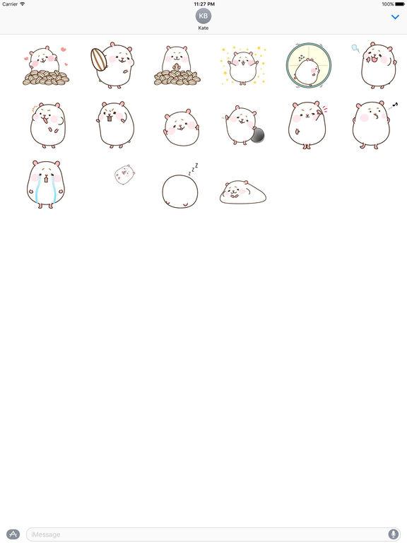 Animated Gluttony Hamster Gif Stickers screenshot 3