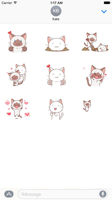 Cat and Love - Animated Sweet Sticker screenshot 2