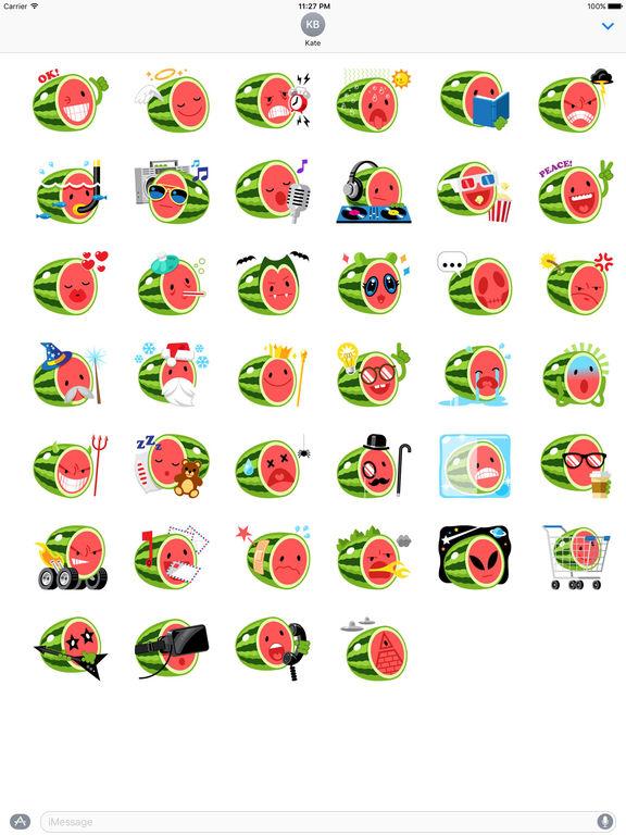 Funny Watermelon Emoji Stickers screenshot 4