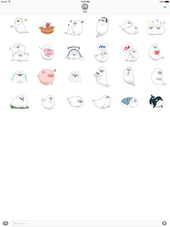 Animated Cute Seal Stickers screenshot 3