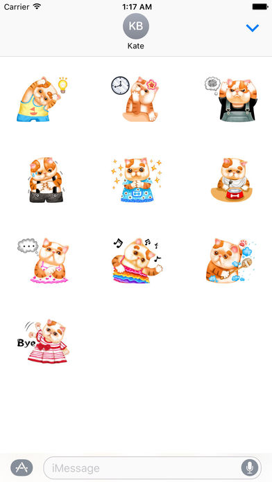 So Cute Cat Cartoon Sticker screenshot 3