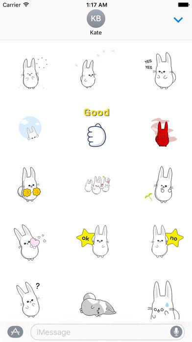 Fast Animated - Funny Cute Rabbit Sticker screenshot 1