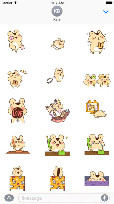 Animated Adorable Hamster Sticker Packs screenshot 1
