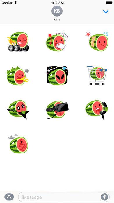 Funny Watermelon Emoji Stickers screenshot 3