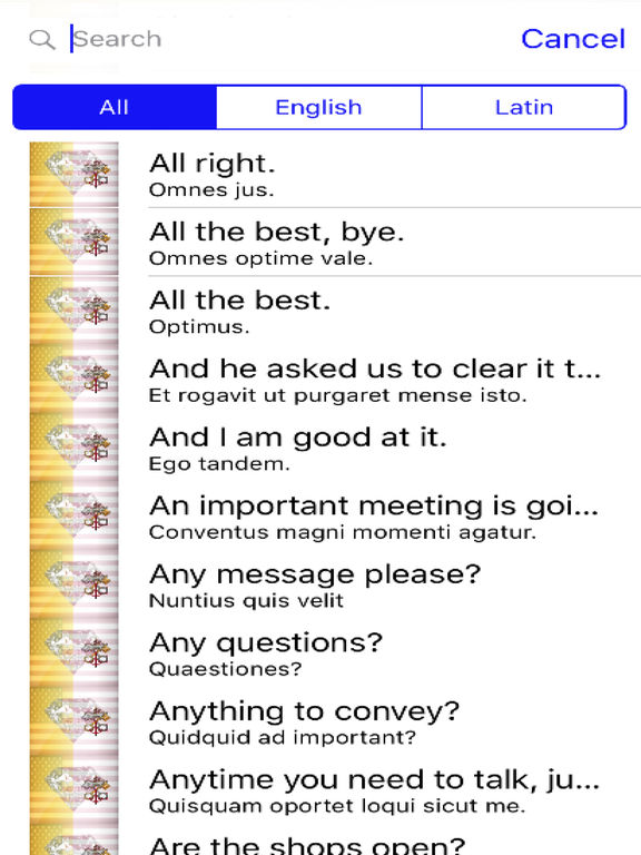 Latin Phrases Diamond 4K Edition screenshot 4