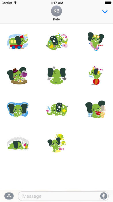 Colorful Elephant Sticker screenshot 3