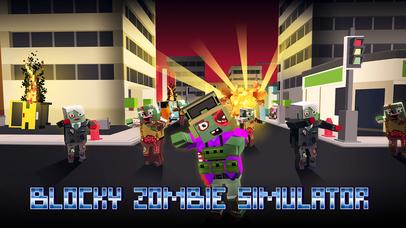 Blocky Zombie Simulator Full screenshot 1