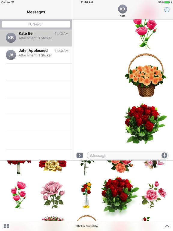 Flower Bouquets Bundle Stickers screenshot 6