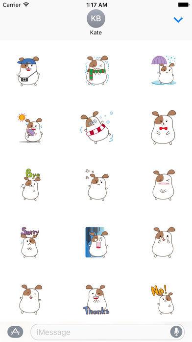 Chubby Hamster Sticker screenshot 2