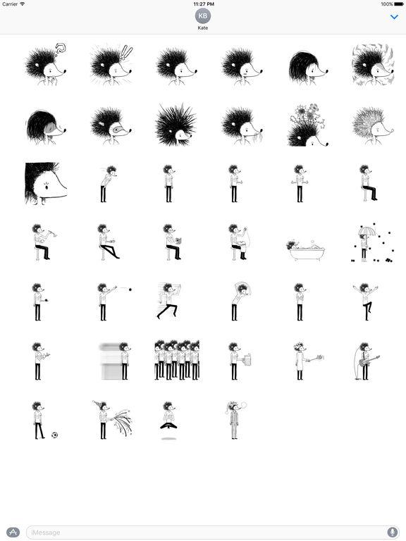 Hedgehog Man Emoji Stickers screenshot 4