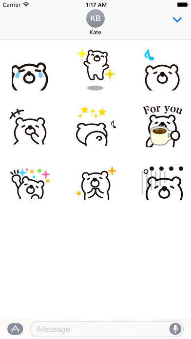 Animated Funny White Bear Stickers screenshot 2