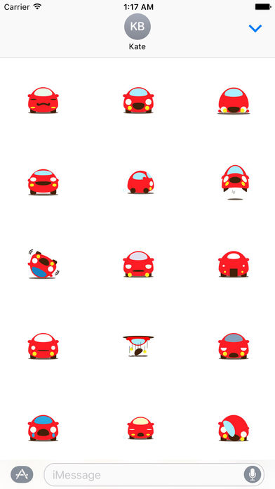 Cute Red Car Carmoji Stickers screenshot 2