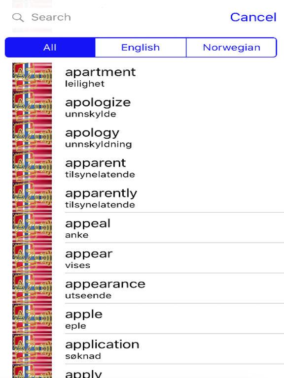 Norwegian Dictionary GoldEdition screenshot 9