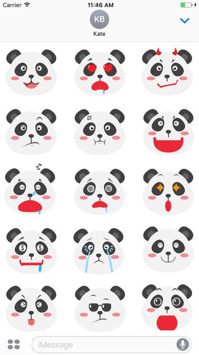 Super Cute Panda - Emoji Style screenshot 2