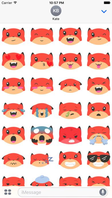 Fox Emojis screenshot 3