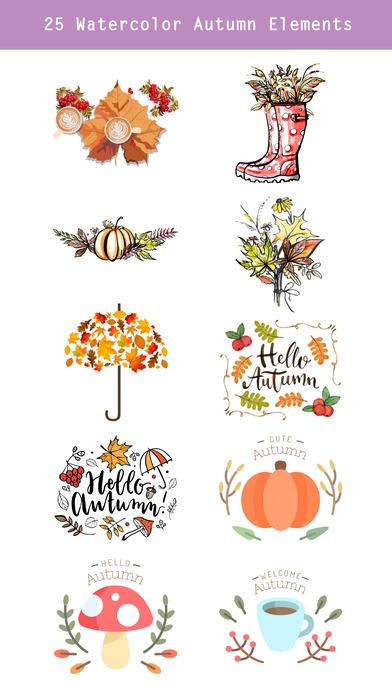 Autumn Love - Animal & Text & Elements Pack screenshot 5