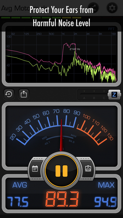 Decibel X PRO: dBA Noise Meter screenshot 4