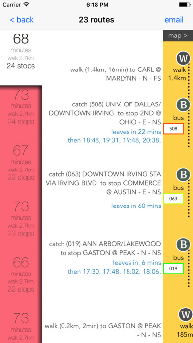 Dallas Public Transport Guide screenshot 2
