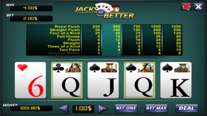 Jacks or Better ® screenshot 1