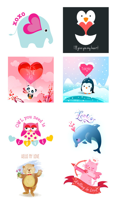 Love Quotes with Lovely & Cute Animal Character screenshot 4