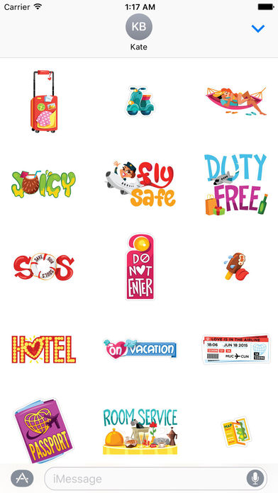 Love and Summer Vacation Emoji Sticker screenshot 2
