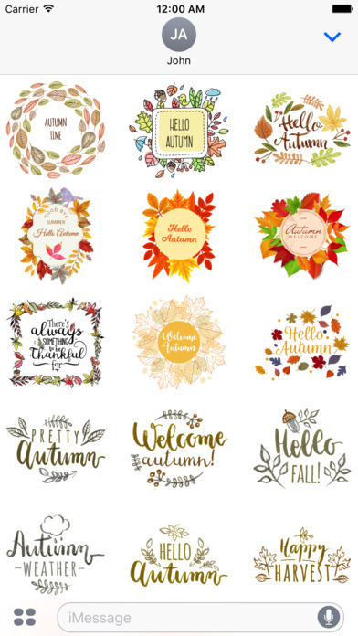 Autumn Greetings - Say it With Beautiful Stickers screenshot 1
