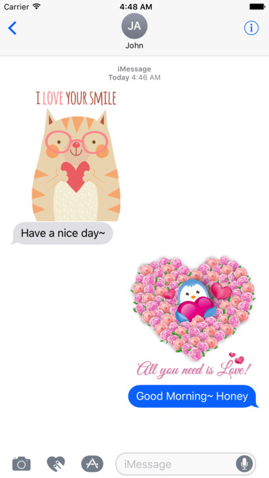 Love Quotes with Lovely & Cute Animal Character screenshot 2