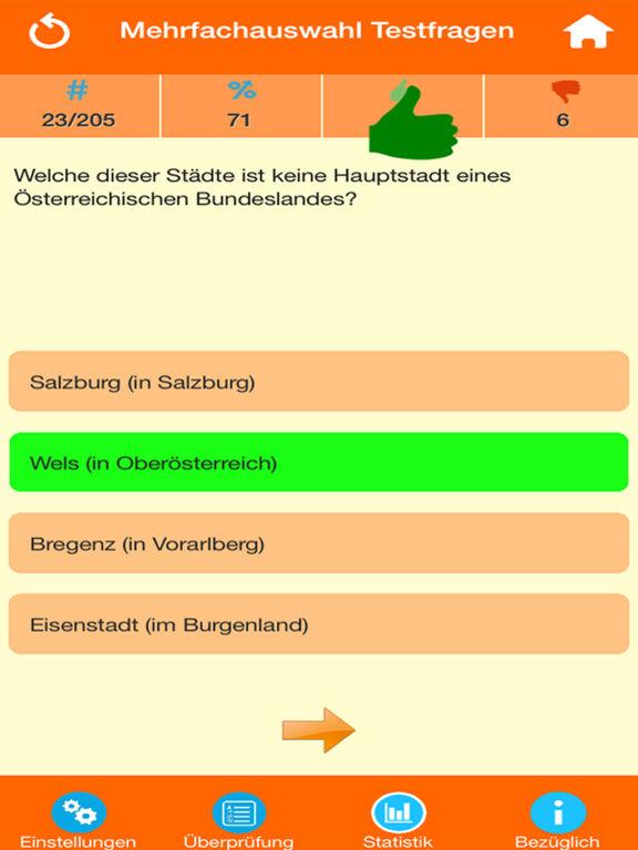 Österreich Wissenstests screenshot 7