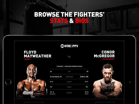 SHOWTIME PPV- Mayweather vs. McGregor- Stream Live screenshot 8