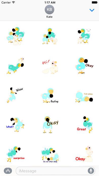 Cute Dodo Bird Sticker screenshot 1