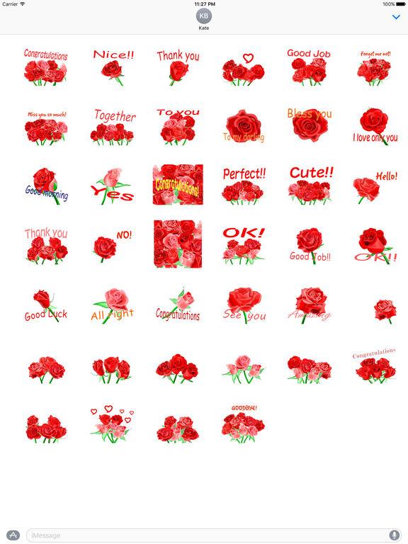 Love and Rose - Rosemoji Sticker screenshot 4