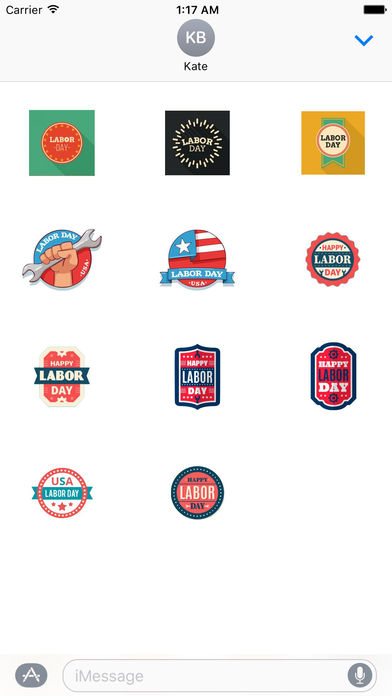 Happy Labor Day 2017 Sticker screenshot 3