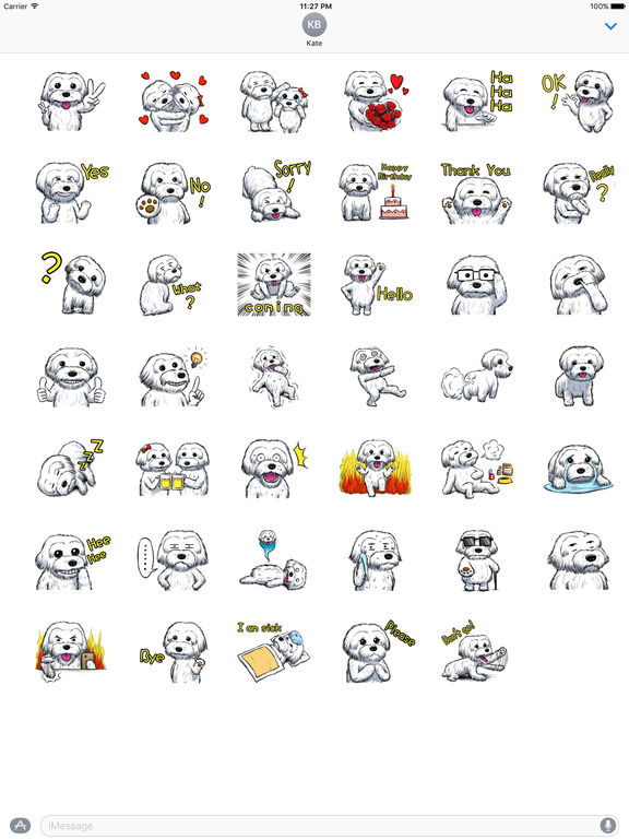 Adorable Maltese Dog - Maltmoji Emoji Sticker screenshot 4