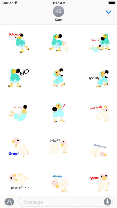 Cute Dodo Bird Sticker screenshot 2