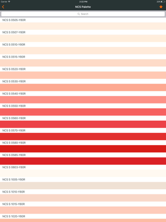 Ncs color chart. 3D fan deck screenshot 6
