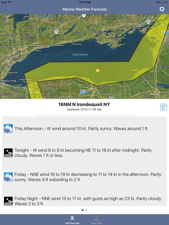 Lake Ontario Boating Weather screenshot 4