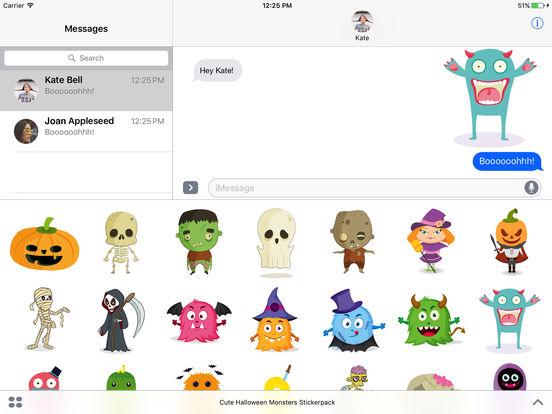 Cute Halloween Monsters Stickerpack screenshot 4