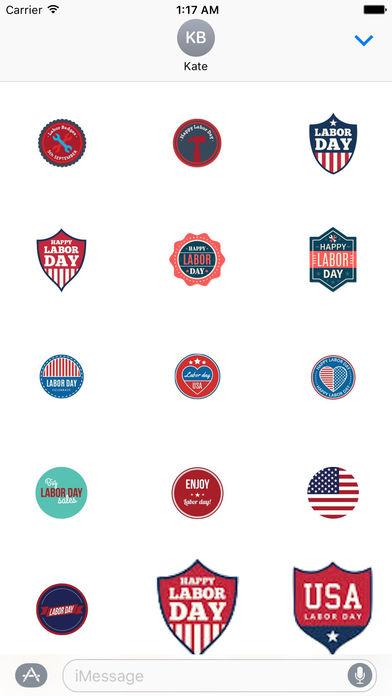 Happy Labor Day 2017 Sticker screenshot 2