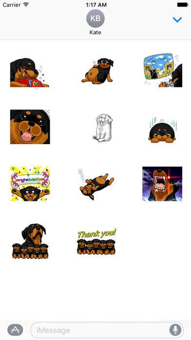 Rottmoji - Rottweiler Dog Emoji Sticker screenshot 3