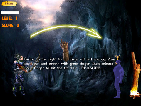 A Purple Arrow - Bowmaster Archer Game In The Fantasy Forest screenshot 10
