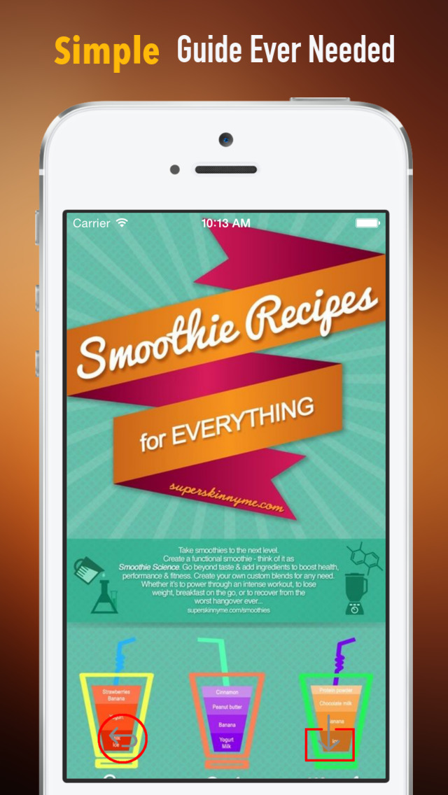 How to Make a Smoothie:Juice, Healthy Eating and Recipes screenshot 2
