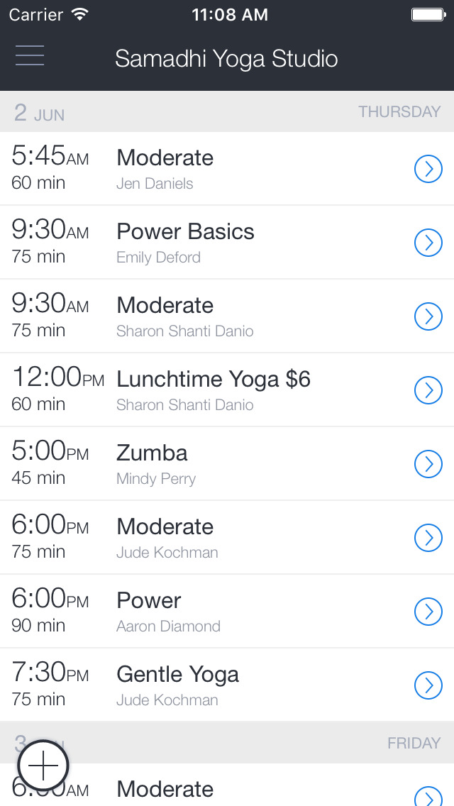 Samadhi Yoga Studio Mobile screenshot 1