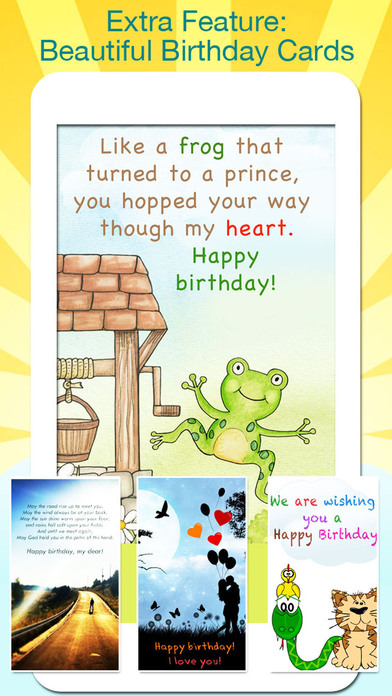 Birthday Greeting Cards - Text on Pictures: Happy Birthday Greetings screenshot 3