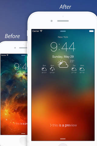 Weather Lock Screen - Customize your Lock Screen B - náhled