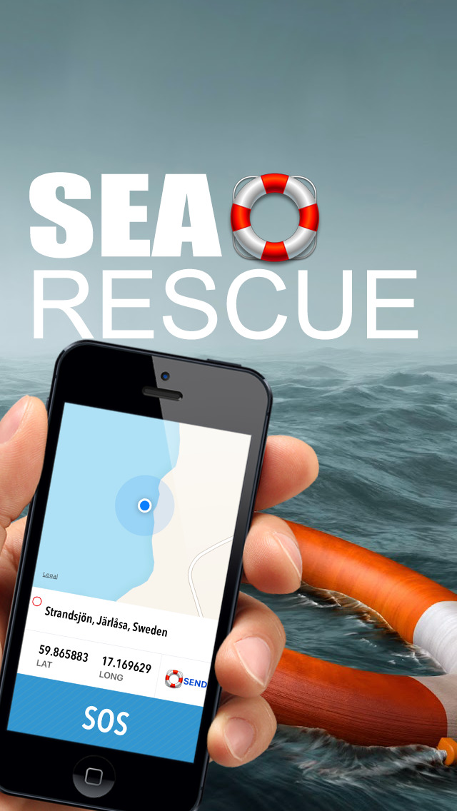 Sea rescue - Call for help at sea with your gps location screenshot 1