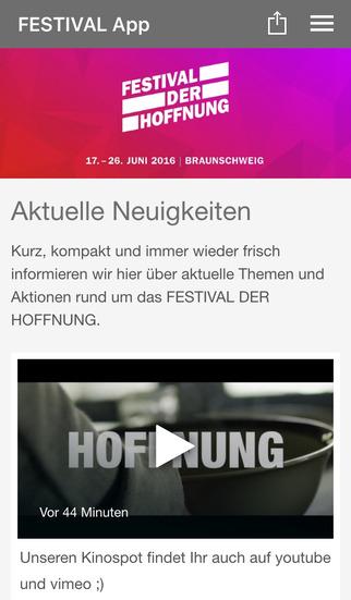 FESTIVAL DER HOFFNUNG screenshot 1