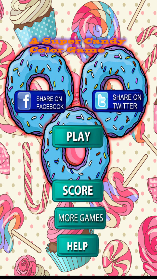 A Super Candy Color Game PRO - Merger Of Donuts screenshot 1