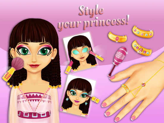 Sweet Egyptian Princess - Fashion Makeover & Kitty Styling screenshot 10